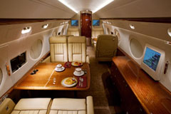 Interior photo of Gulfstream G550